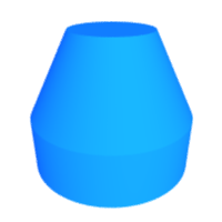 3D cylinder + cone